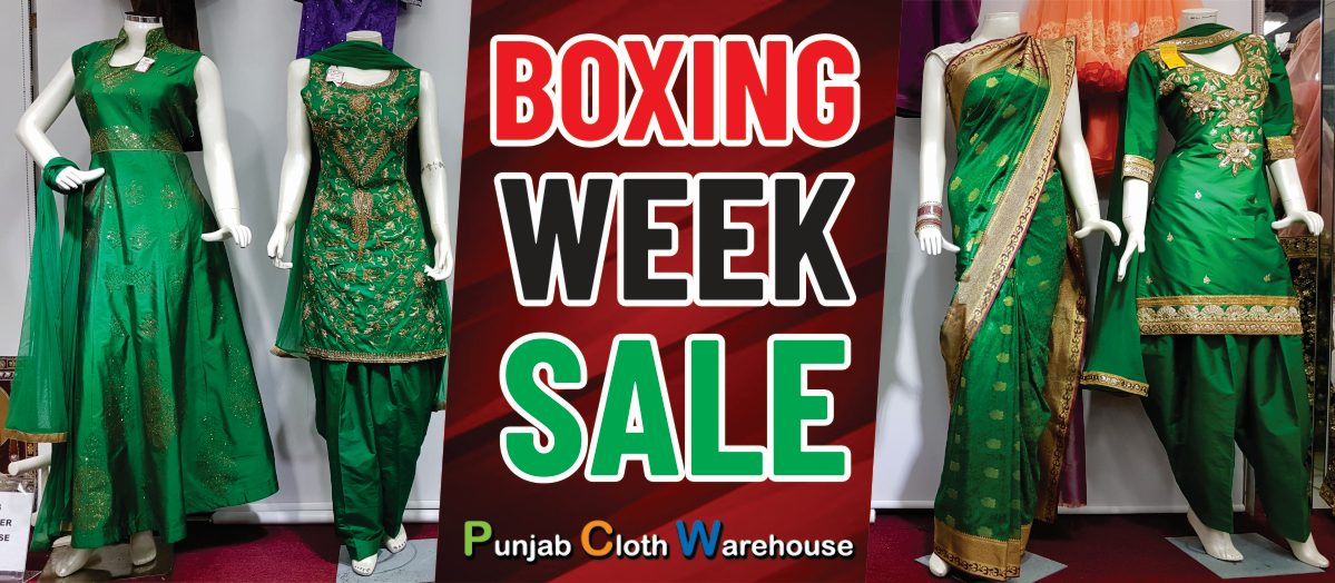 Boxing Week Sale Starts at Punjab Cloth Warehouse, Surrey