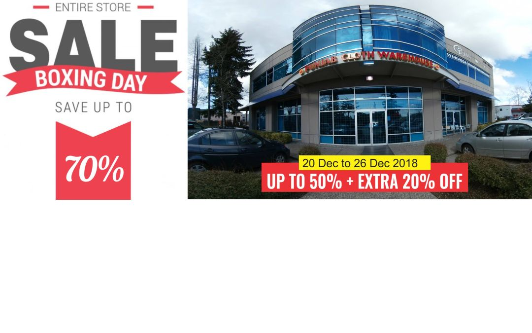 Boxing Day  Sale  Save up to 70%